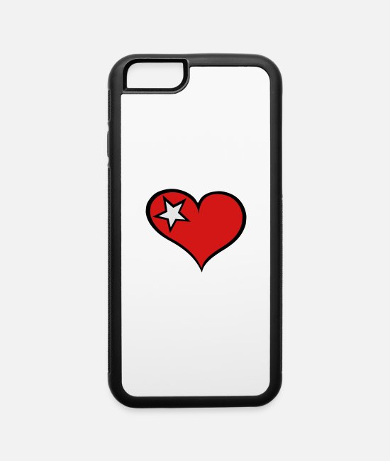 Heart iPhone Cases - Heart and Star - iPhone 6 Case white/black