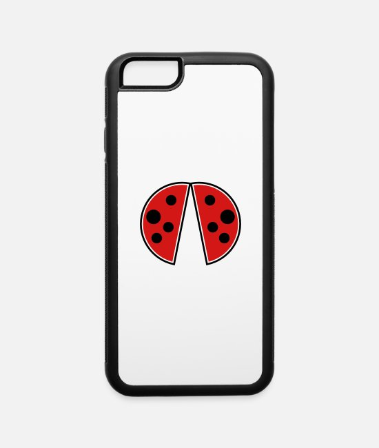 Shell iPhone Cases - ladybug wings - iPhone 6 Case white/black