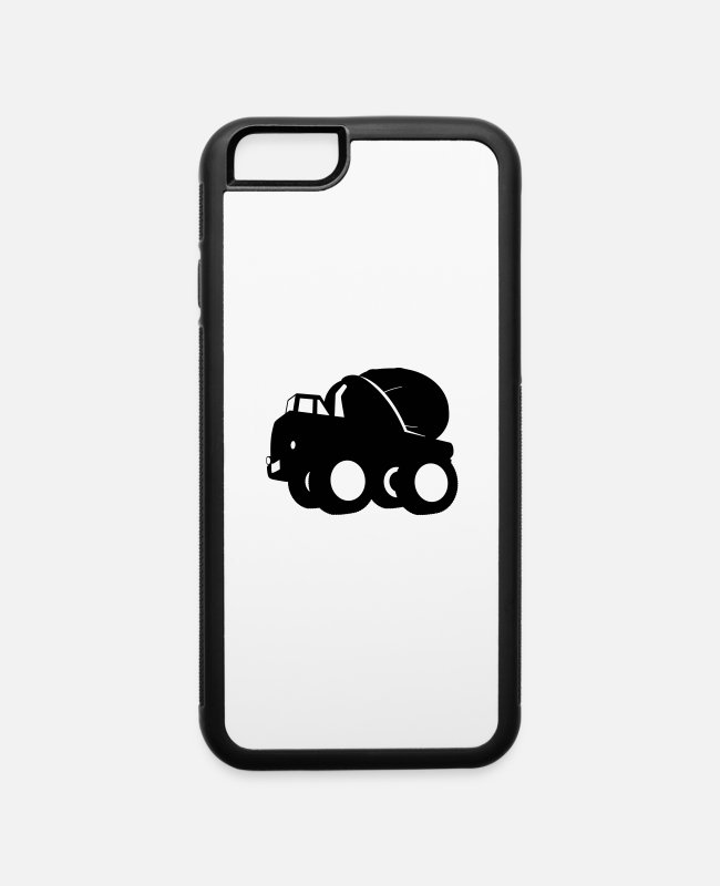 Mixer iPhone Cases - mixer truck - iPhone 6 Case white/black