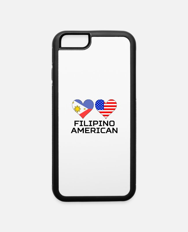 Heart iPhone Cases - Filipino American Hearts - iPhone 6 Case white/black