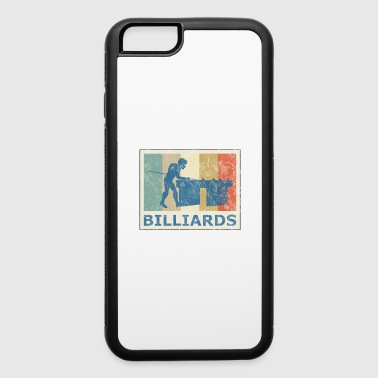 Retro Vintage Style Pool Billiard Player Snooker - iPhone 6/6s Rubber Case