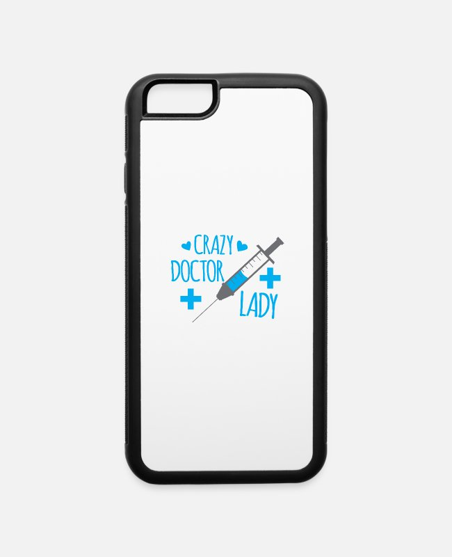 Throat iPhone Cases - Crazy doctor lady with needle - iPhone 6 Case white/black