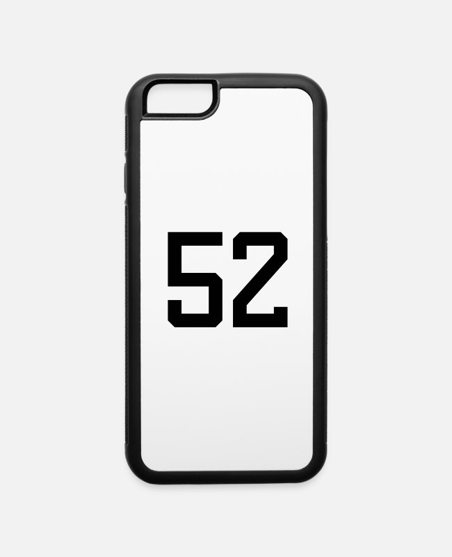 Digit iPhone Cases - number 52 - iPhone 6 Case white/black