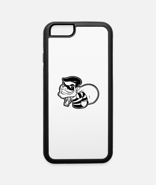 Rob iPhone Cases - crook - iPhone 6 Case white/black