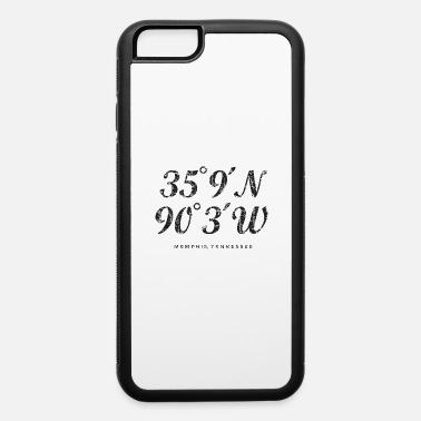 City Of Memphis Memphis Coordinates (Vintage Black) - iPhone 6 Case