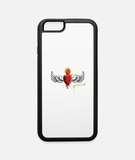 Graphics iPhone Cases - heart wings - iPhone 6 Case white/black
