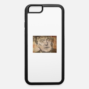 President Donald J Trump Donald J. Trump with american flag as background - iPhone 6 Case