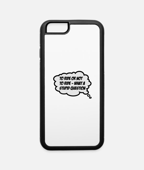 Riding iPhone Cases - riding - iPhone 6 Case white/black