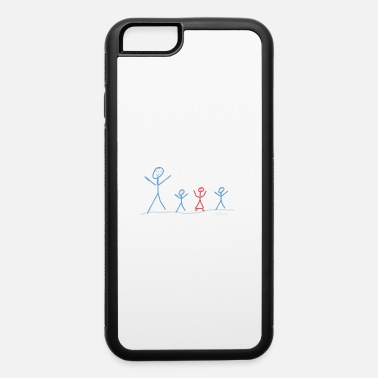 Boy And Girl dad with boys and girl - iPhone 6 Case