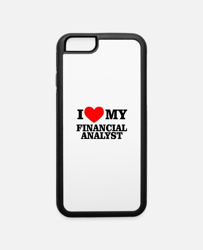 Heart iPhone Cases - I love my financial analyst - iPhone 6 Case white/black