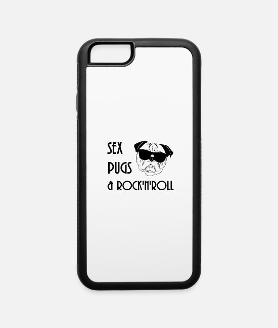 Drugs iPhone Cases - Pugs and Rock Music Funny - iPhone 6 Case white/black