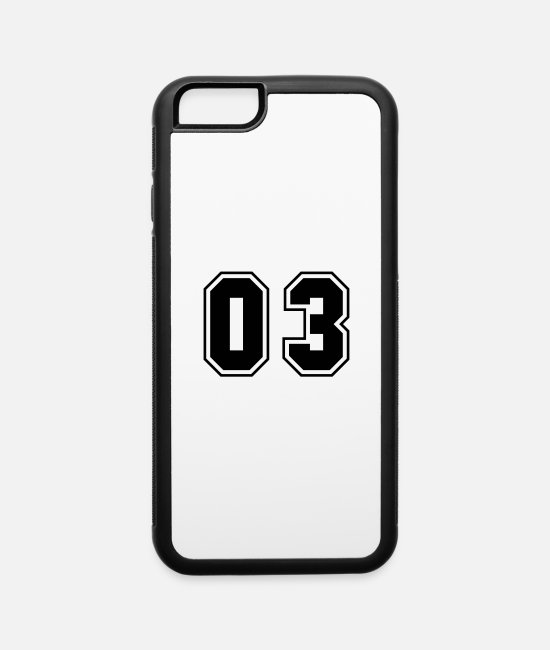 Numbers iPhone Cases - College jersey letter 03 - iPhone 6 Case white/black