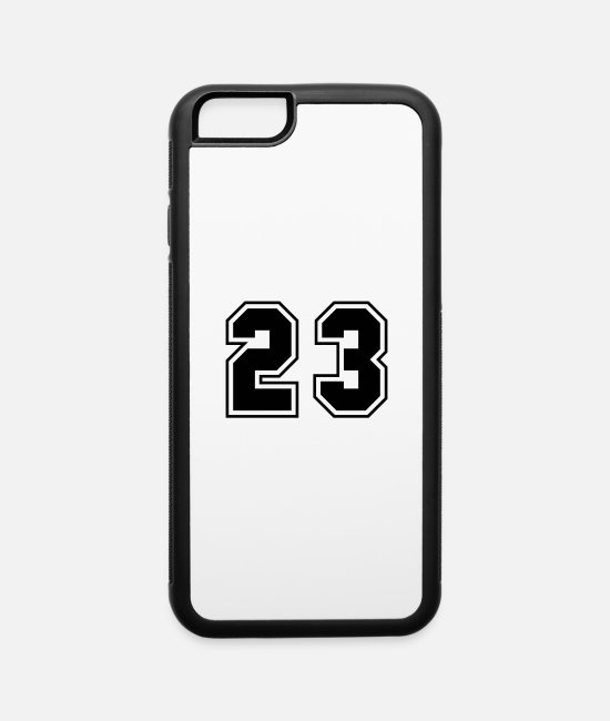 23 iPhone Cases - College jersey letter 23 - iPhone 6 Case white/black