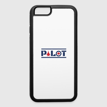 Aircraft Nose Art Pilot Canada Maple Leaf Blue - iPhone 6/6s Rubber Case