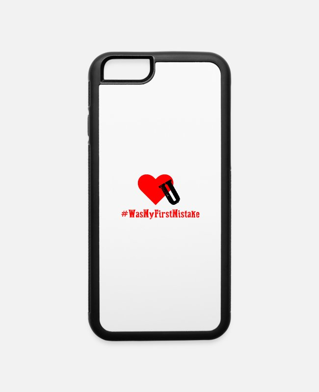 Heart iPhone Cases - My First Mistake - iPhone 6 Case white/black