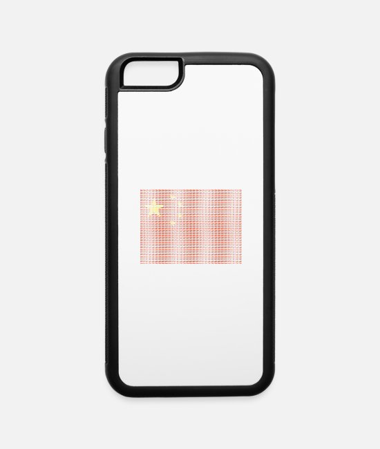 Country iPhone Cases - Chinese Flag Beijing Asia Orient - iPhone 6 Case white/black