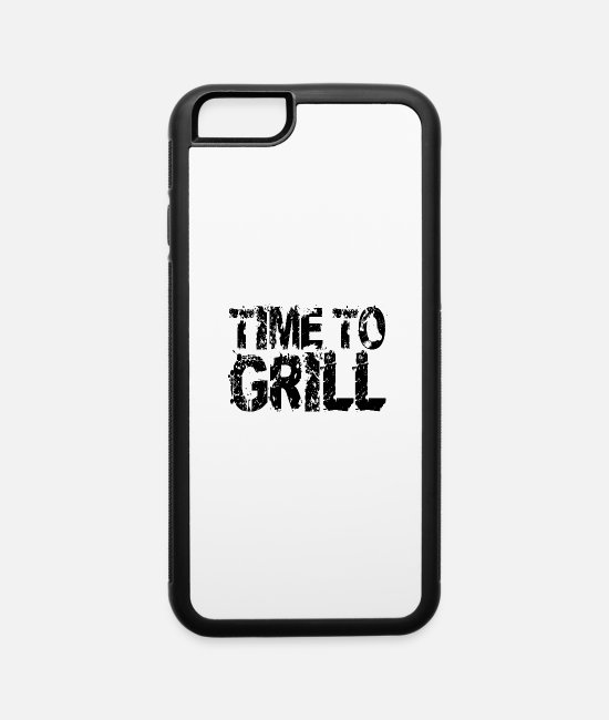 BBQ iPhone Cases - TIME TO GRILL - iPhone 6 Case white/black