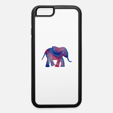 Original Painting Elephant Original Watercolor Hand Painted Gift - iPhone 6 Case