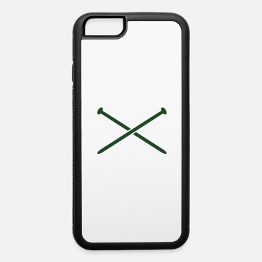 crossed knitting needles crafty knit - iPhone 6 Case