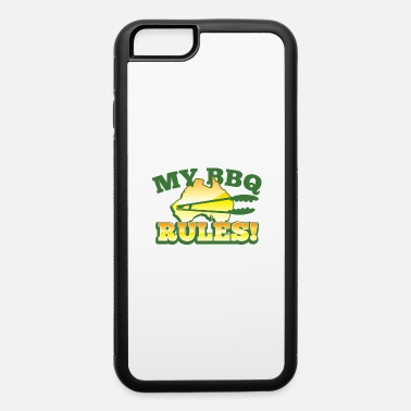 Barbecue Tongs MY BBQ RULES with tongs barbecue aussie map - iPhone 6 Case