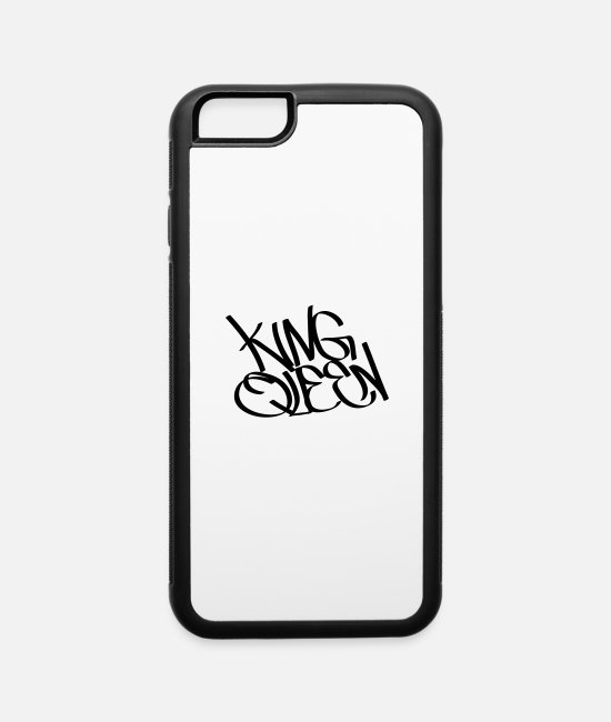 King Queen iPhone Cases - king queen - iPhone 6 Case white/black