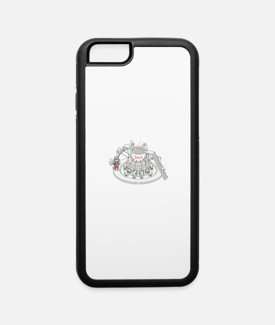 Java Style iPhone Cases - java - iPhone 6 Case white/black