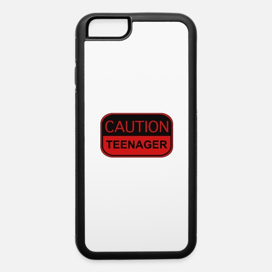 Teenager iPhone Cases - Caution Teenager - iPhone 6 Case white/black