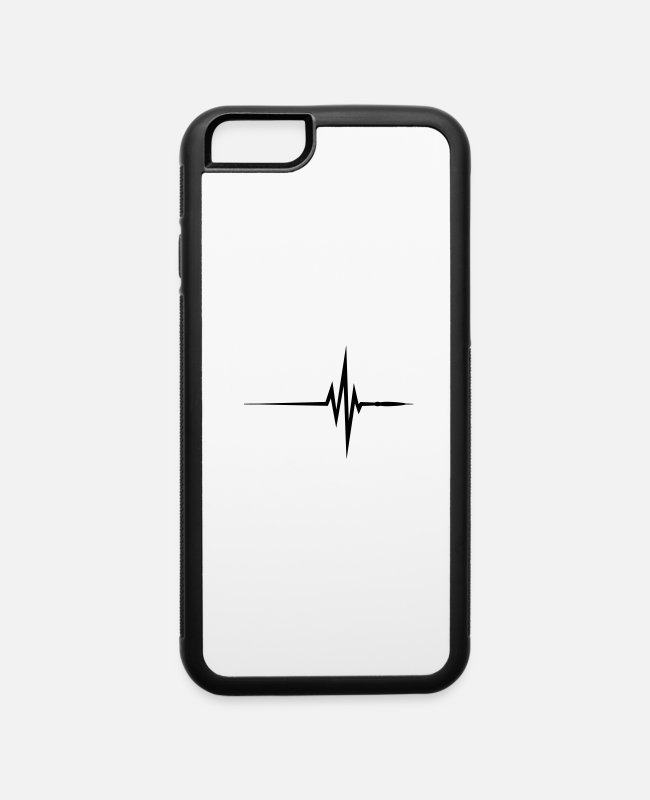 Heart Rate iPhone Cases - Hearbeat (1c)++2014 - iPhone 6 Case white/black
