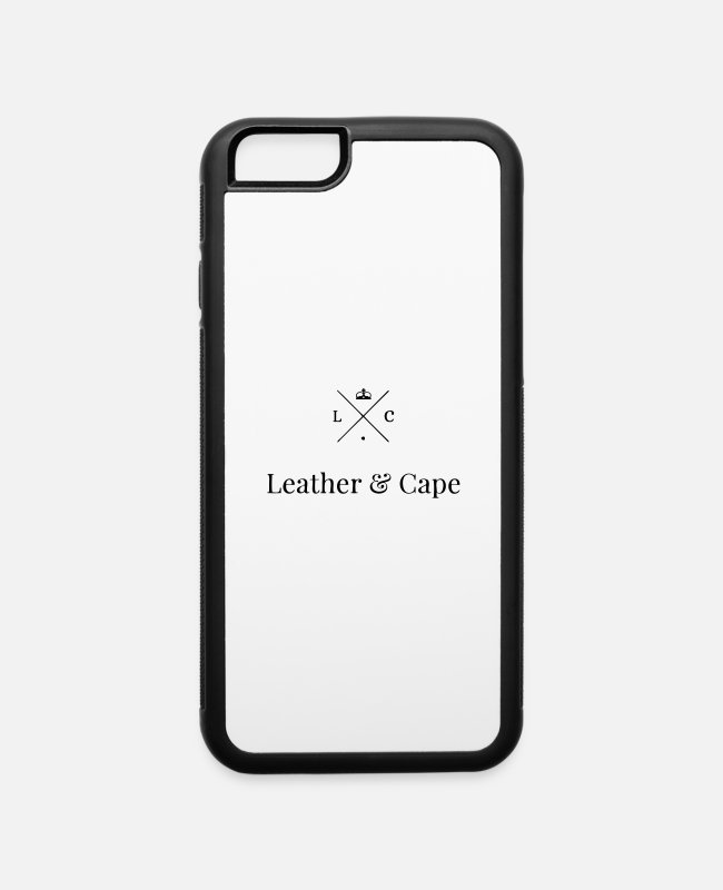 Hipster iPhone Cases - Leather & Cape Hipster Logo - iPhone 6 Case white/black