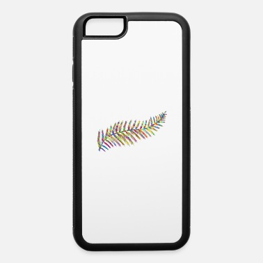 Flecked Prismatic Fern Leaf Silhouette By Karen Arnold - iPhone 6 Case