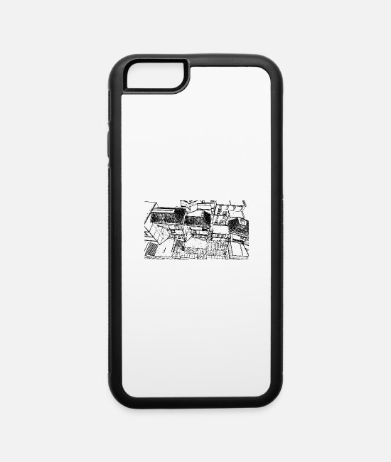 Country iPhone Cases - Mediterranean Village - iPhone 6 Case white/black