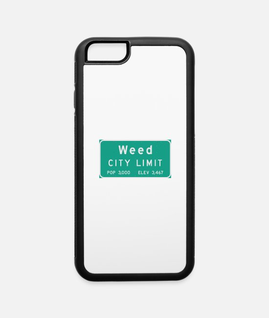 Usa iPhone Cases - Weed City Limit - iPhone 6 Case white/black