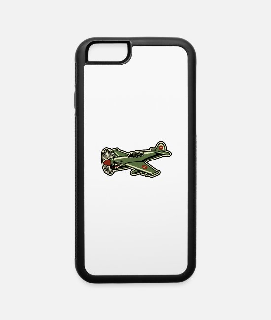 Pilot iPhone Cases - Propeller Airplane - iPhone 6 Case white/black