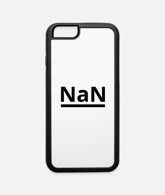 Numbers iPhone Cases - NaN - Not a Number - iPhone 6 Case white/black