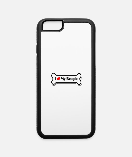 Dachshund iPhone Cases - i love my beagle - iPhone 6 Case white/black