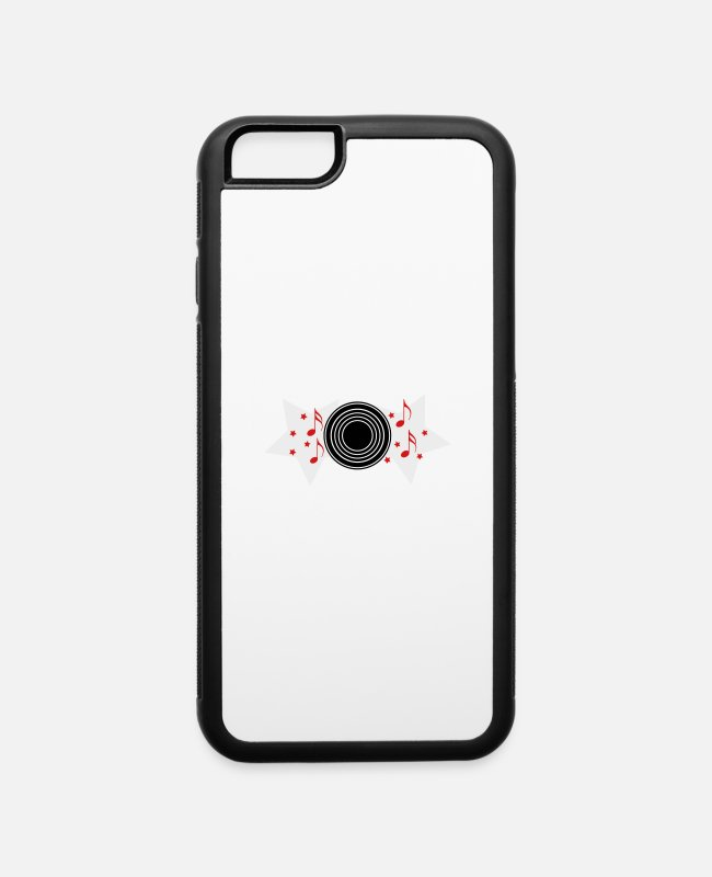 Toto iPhone Cases - record with musical notes and stars - iPhone 6 Case white/black