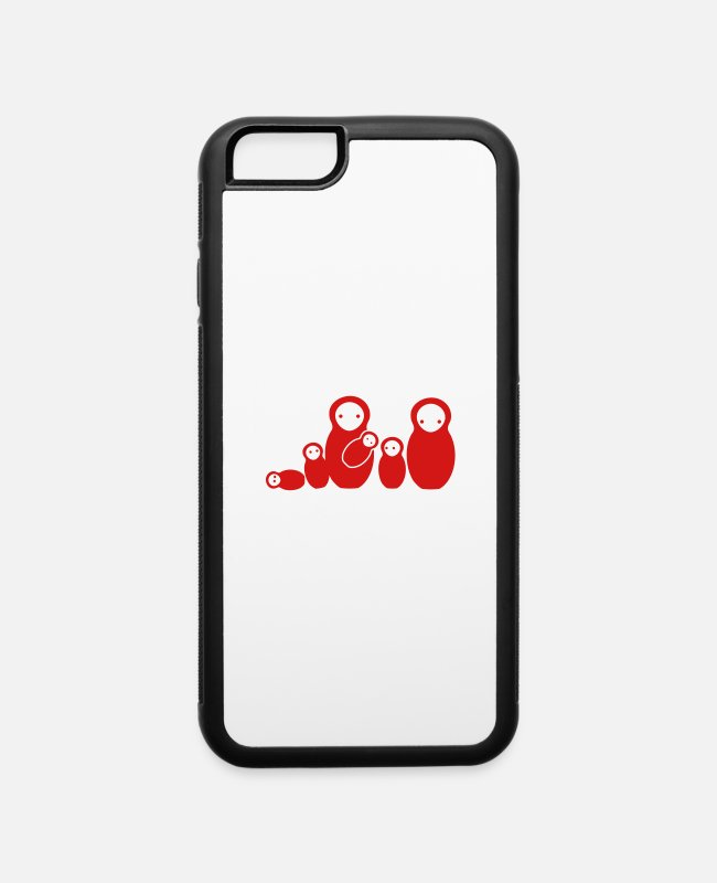 Russian iPhone Cases - babooshka family mom dad baby babies dolls - iPhone 6 Case white/black