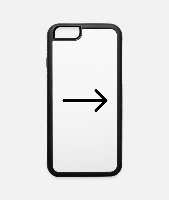 Arrow iPhone Cases - Arrow right 02 - iPhone 6 Case white/black