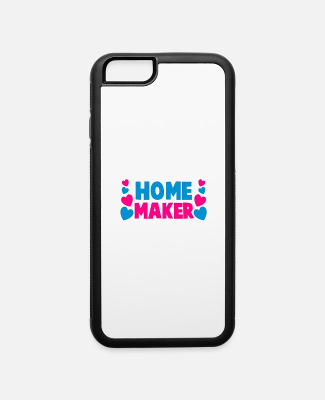 Homely iPhone Cases - home maker - iPhone 6 Case white/black