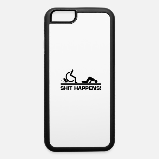 Accident iPhone Cases - shit_happens_rollstuhl - iPhone 6 Case white/black