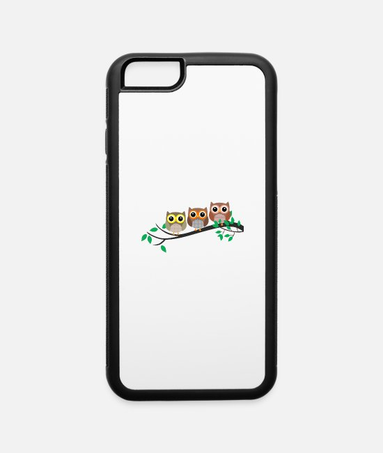 Shoplifter iPhone Cases - Three Owls in a tree - iPhone 6 Case white/black