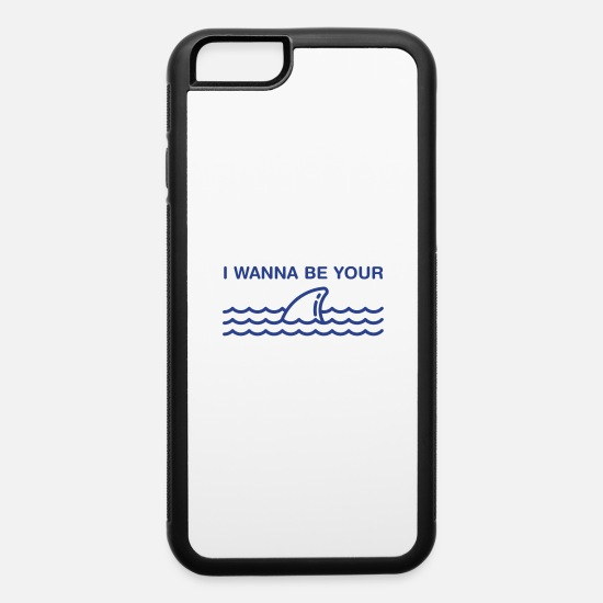 Shark iPhone Cases - I Wanna Be Your Shark - iPhone 6 Case white/black
