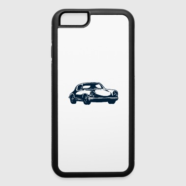 Classic retro vintage race car shape vector image - iPhone 6/6s Rubber Case