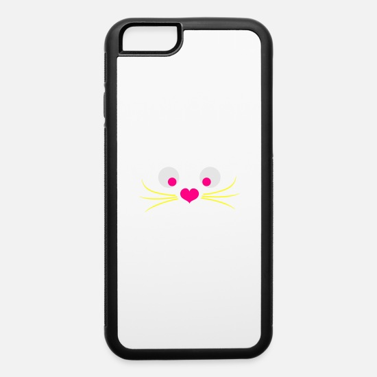 Love iPhone Cases - cat with a love heart nose - iPhone 6 Case white/black