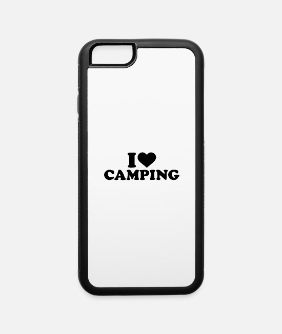 Tent iPhone Cases - i love camping white - iPhone 6 Case white/black