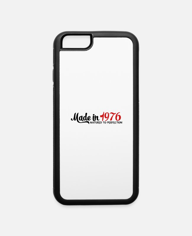 1976 iPhone Cases - made in 1976 - iPhone 6 Case white/black