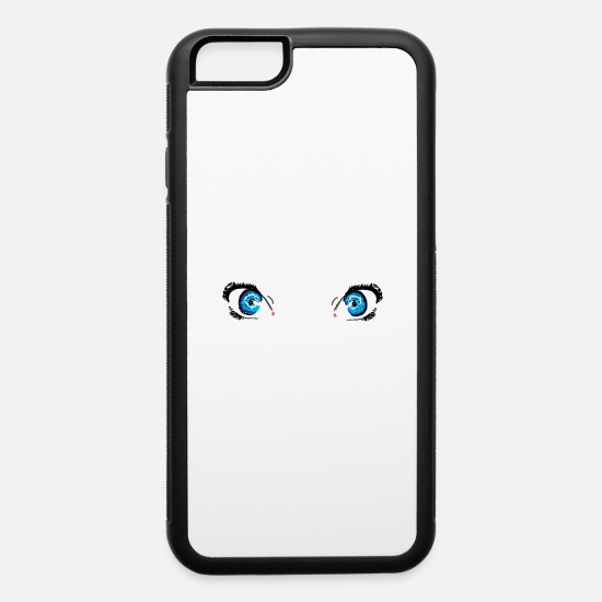 Boobs iPhone Cases - Glacier Blue Eyes - iPhone 6 Case white/black
