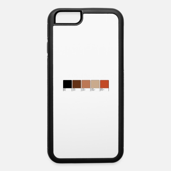 Spreadshirtlikes iPhone Cases - Pantone Coffee Coffee Apparel Shirts - iPhone 6 Case white/black