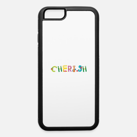 Cherish iPhone Cases - Cherish - iPhone 6 Case white/black
