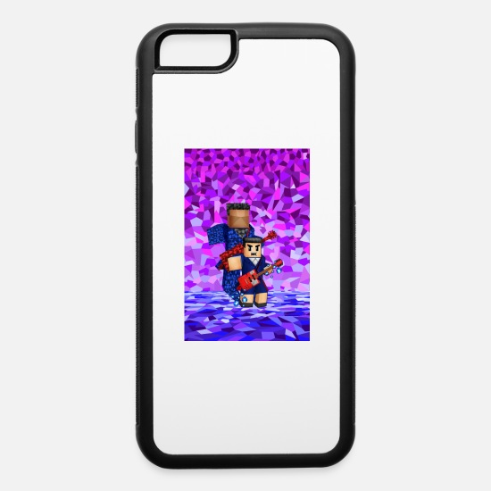 Boys iPhone Cases - 8bit boy with guitar action Phone Case - iPhone 6 Case white/black